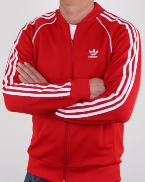 Adidas Originals Superstar Track Top Scarlet Red