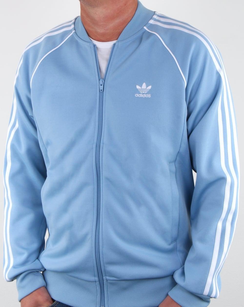 1443819e81a937 Adidas Originals Superstar Track Top sky, jacket, tracksuit