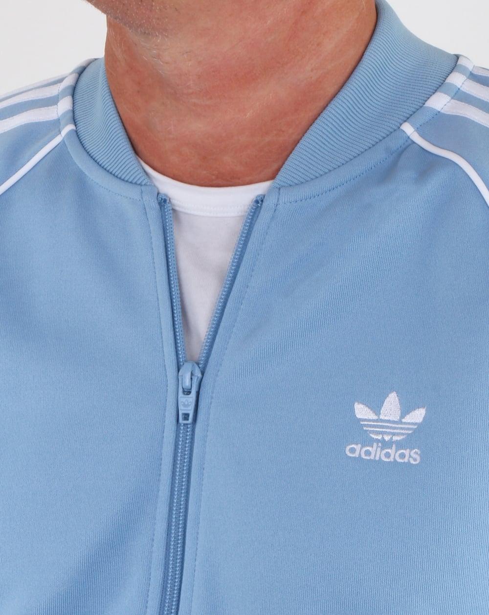 02a562f20 Adidas Originals Superstar Track Top sky, jacket, tracksuit
