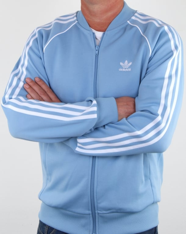 0dc5612294a0dd adidas Originals Adidas Originals Superstar Track Top Sky Blue