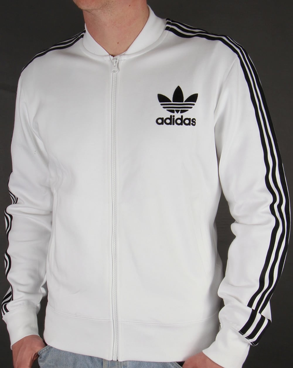 Adidas Originals Superstar Track Top White Black