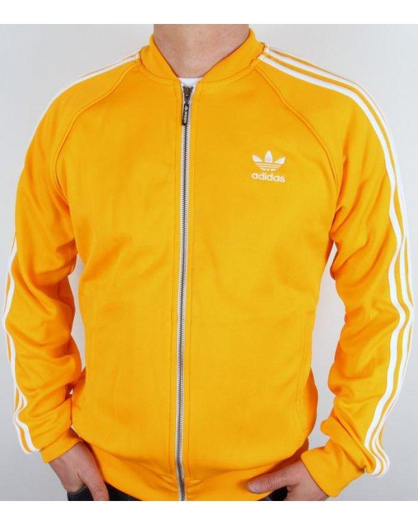 Adidas Originals Superstar Track Top Yellow white - adidas superstar ... e53f36adb5