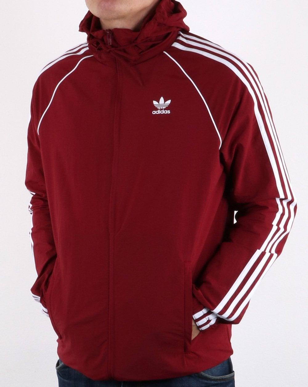 adidas Originals Adidas Originals Superstar Windbreaker Collegiate Burgundy ab7516911e5