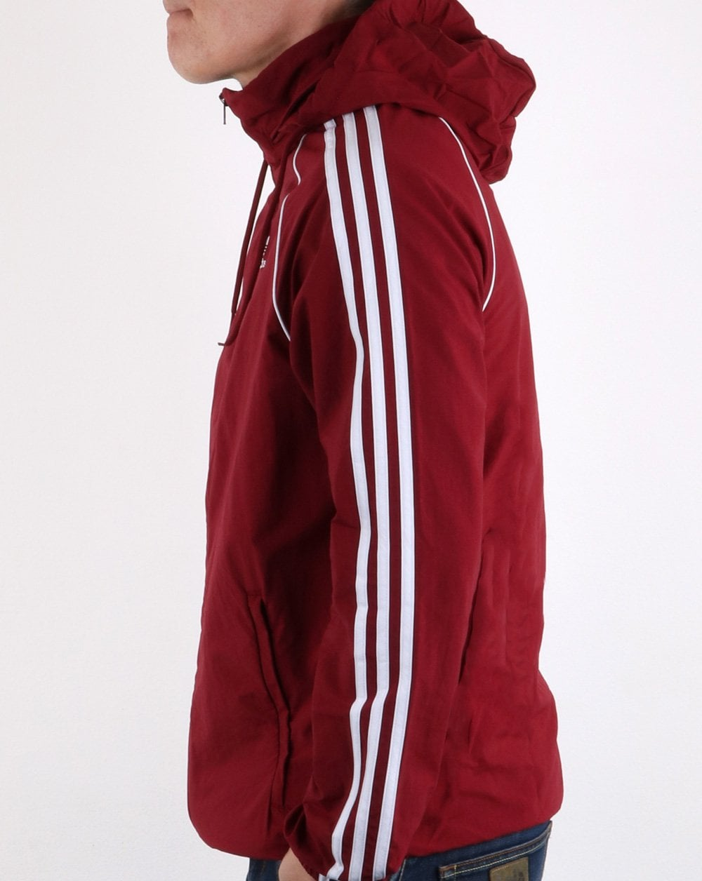 new photos 8c3e0 8bbe3 Adidas Originals Superstar Windbreaker Collegiate Burgundy