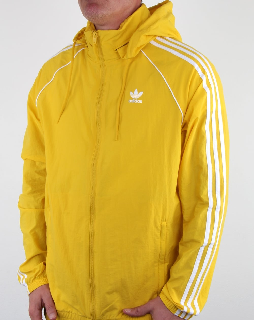 the latest 2b9c6 7bcfe Adidas Originals Superstar Windbreaker Tribe Yellow