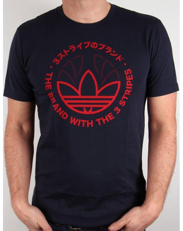 adidas trefoil t shirt red