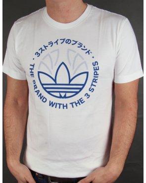 Adidas Originals Tech Trefoil T-shirt White