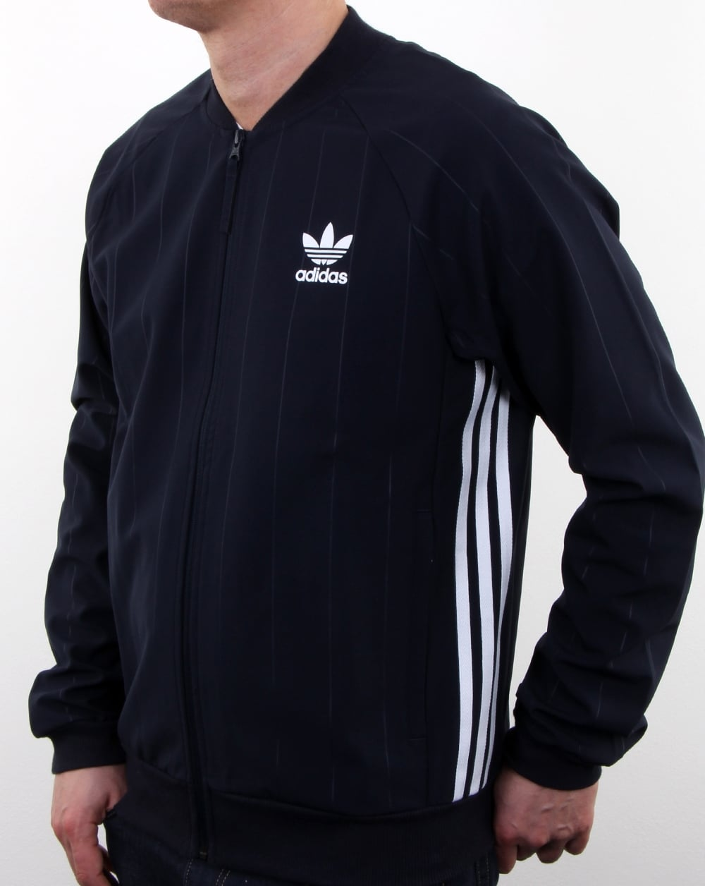 adidas originals tko denim superstar track top navy men 39 s. Black Bedroom Furniture Sets. Home Design Ideas