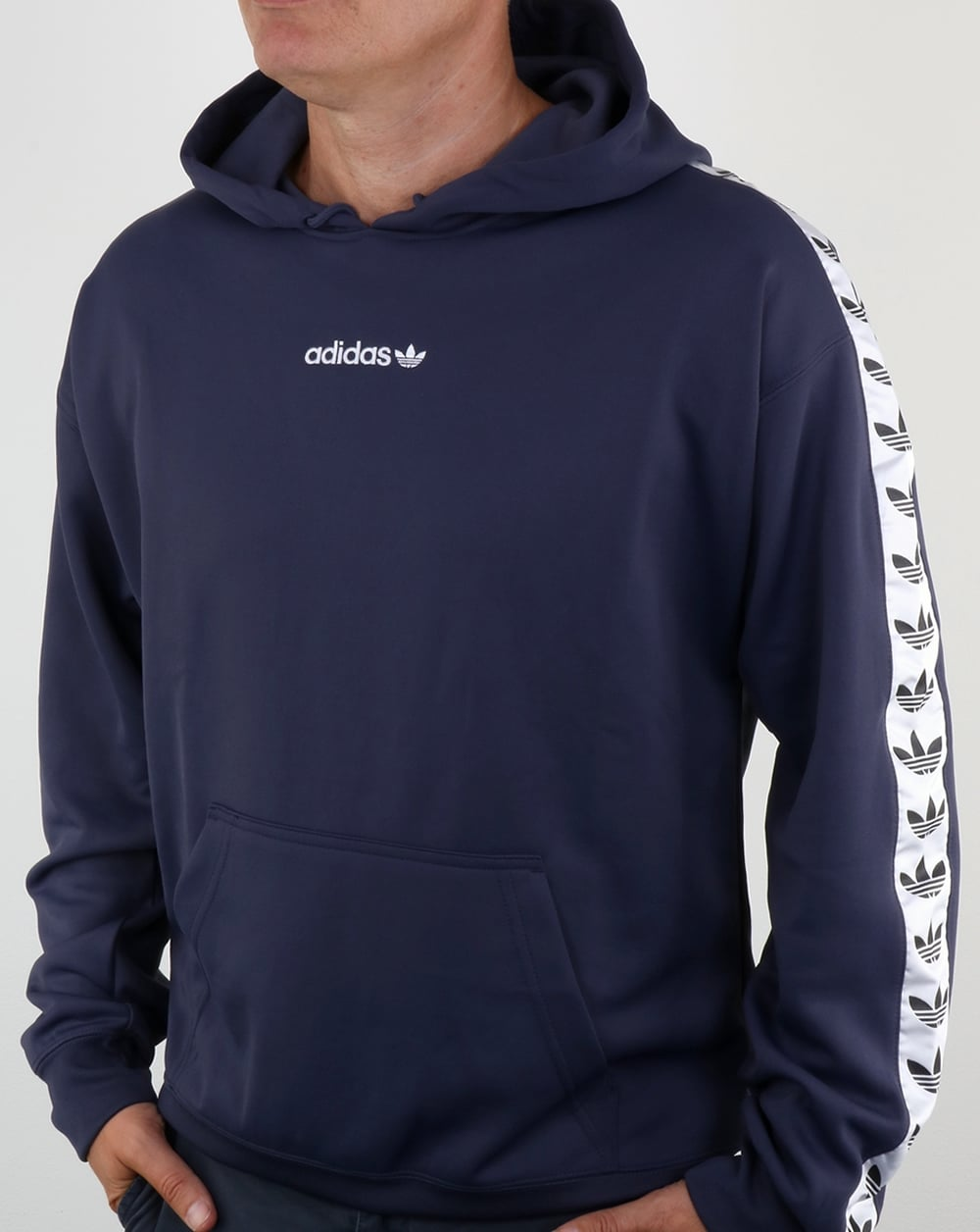Adidas Originals TNT Tape Hoody Trace BlueWhite