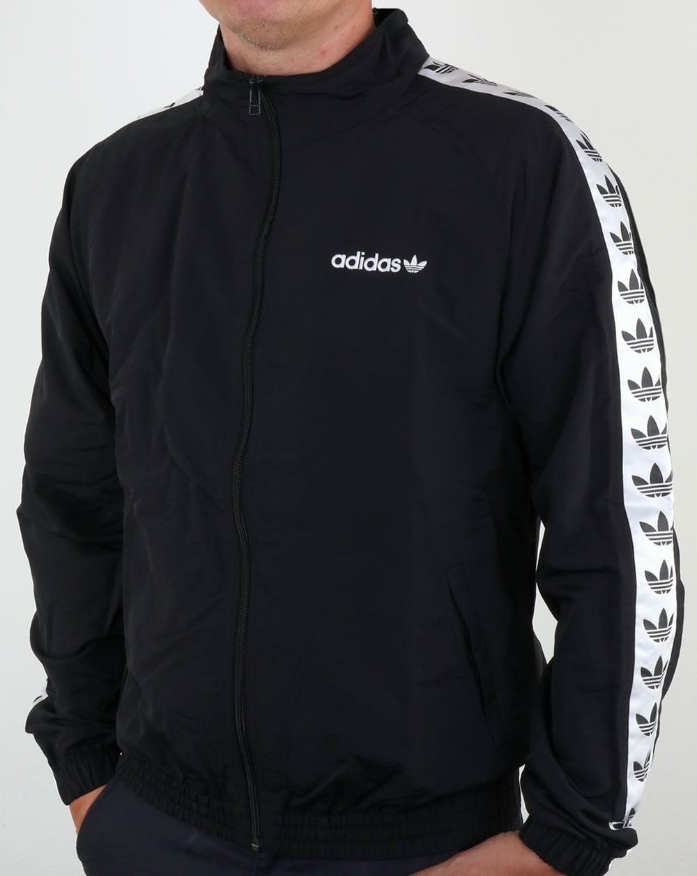 26408d2c417e Buy adidas black and white windbreaker   OFF59% Discounted