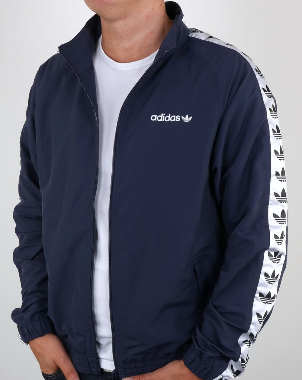 ffe4cead2 Adidas Originals TNT Tape Wind Jacket Trace Blue/White