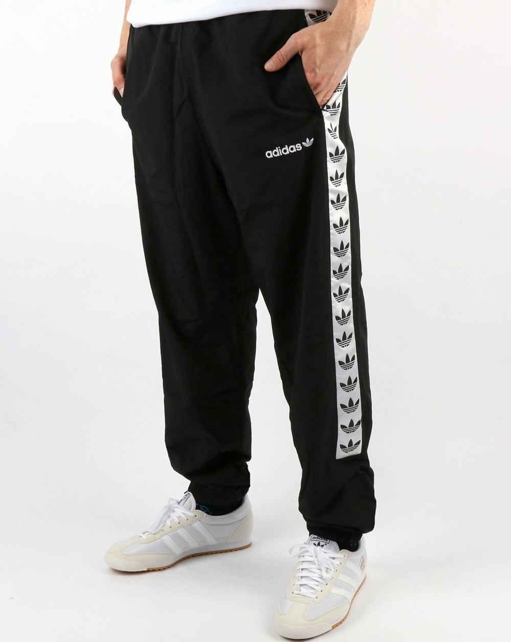 Adidas Originals Tnt Tape Wind Pants Black White Track
