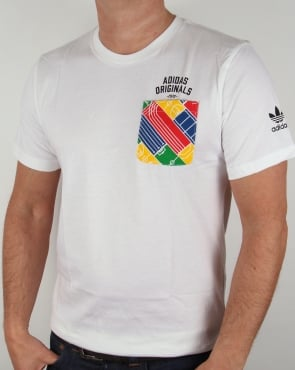 Adidas Originals Track Pocket T-shirt White