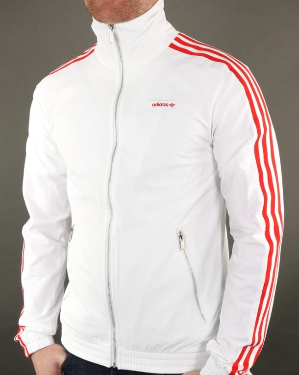 Adidas Originals Track Top White-red