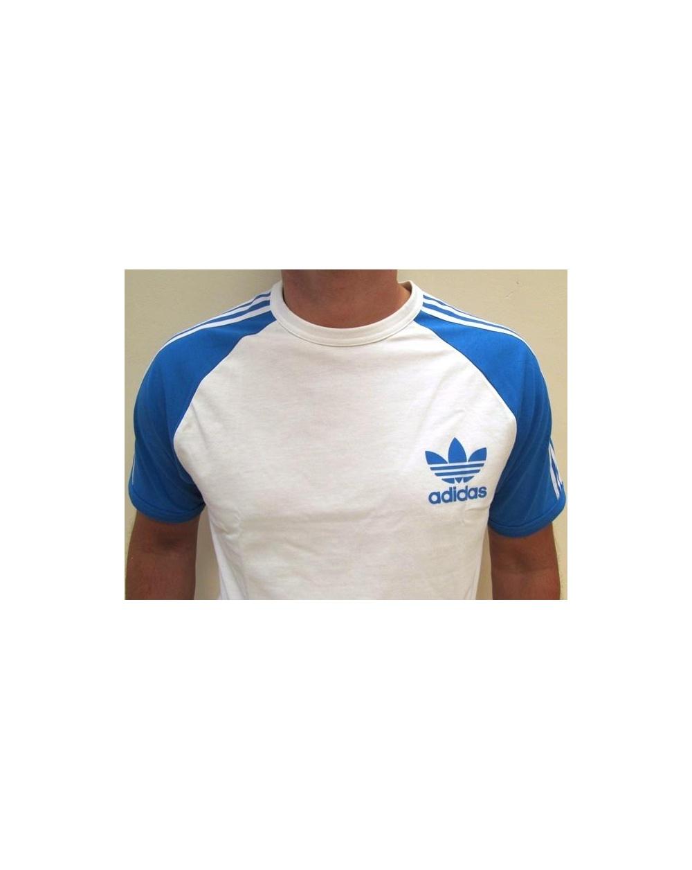 adidas originals trefoil 3 stripes tshirt whiteroyal
