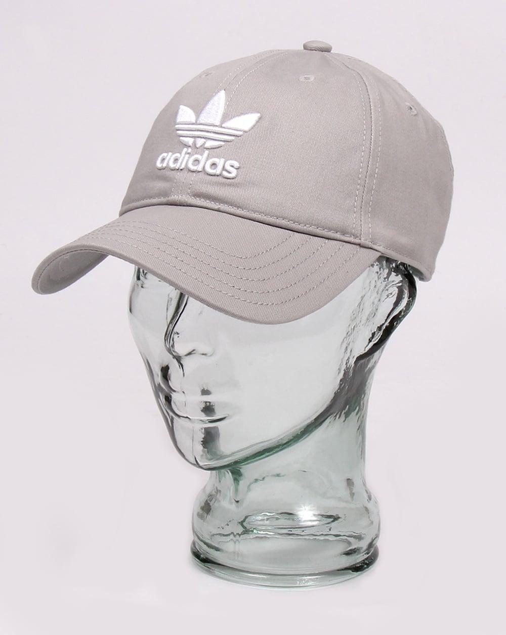 adidas Originals Adidas Originals Trefoil Baseball Cap Grey 29bc538b8b65