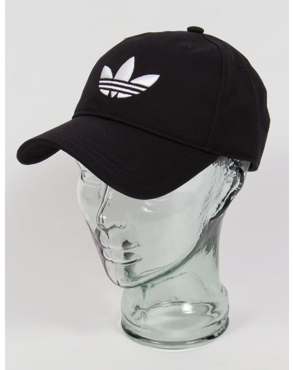 d44056589ff702 Adidas Originals Trefoil Cap Black/White,baseball,hat,mens