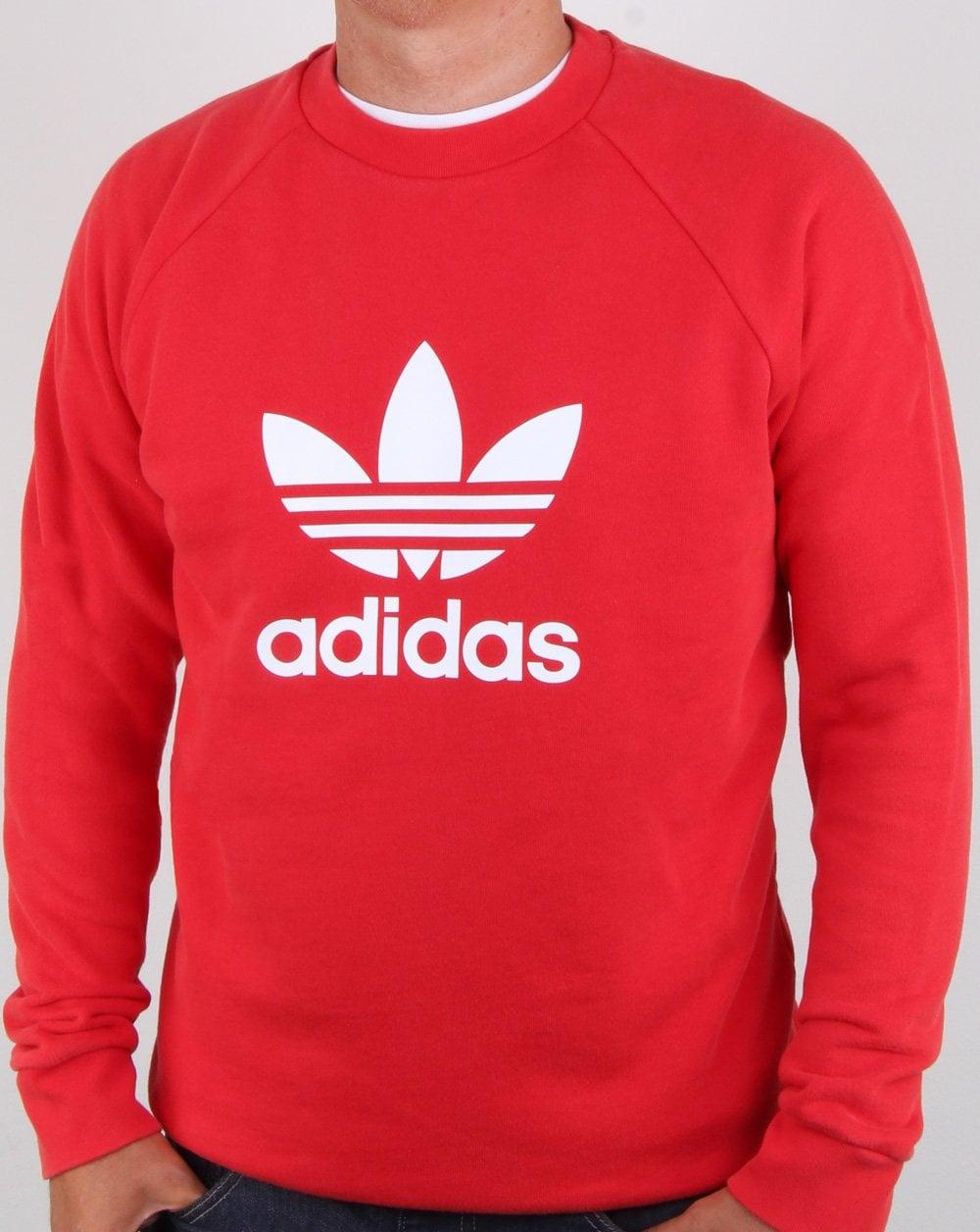 adidas Originals Adidas Originals Trefoil Crew Sweat Collegiate Red 86dd05f5b29