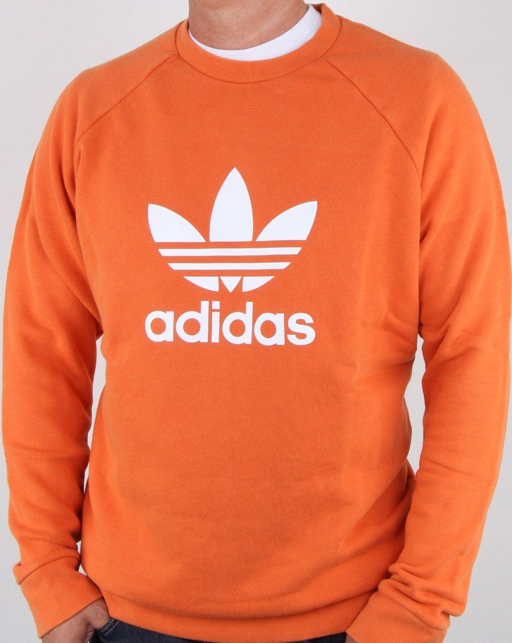 size 40 e4b7a c6ddf adidas Originals Adidas Originals Trefoil Crew Sweat Craft Orange