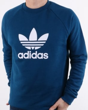 9a3f58bd93d7 Adidas Originals Trefoil Crew Sweat Deep Blue