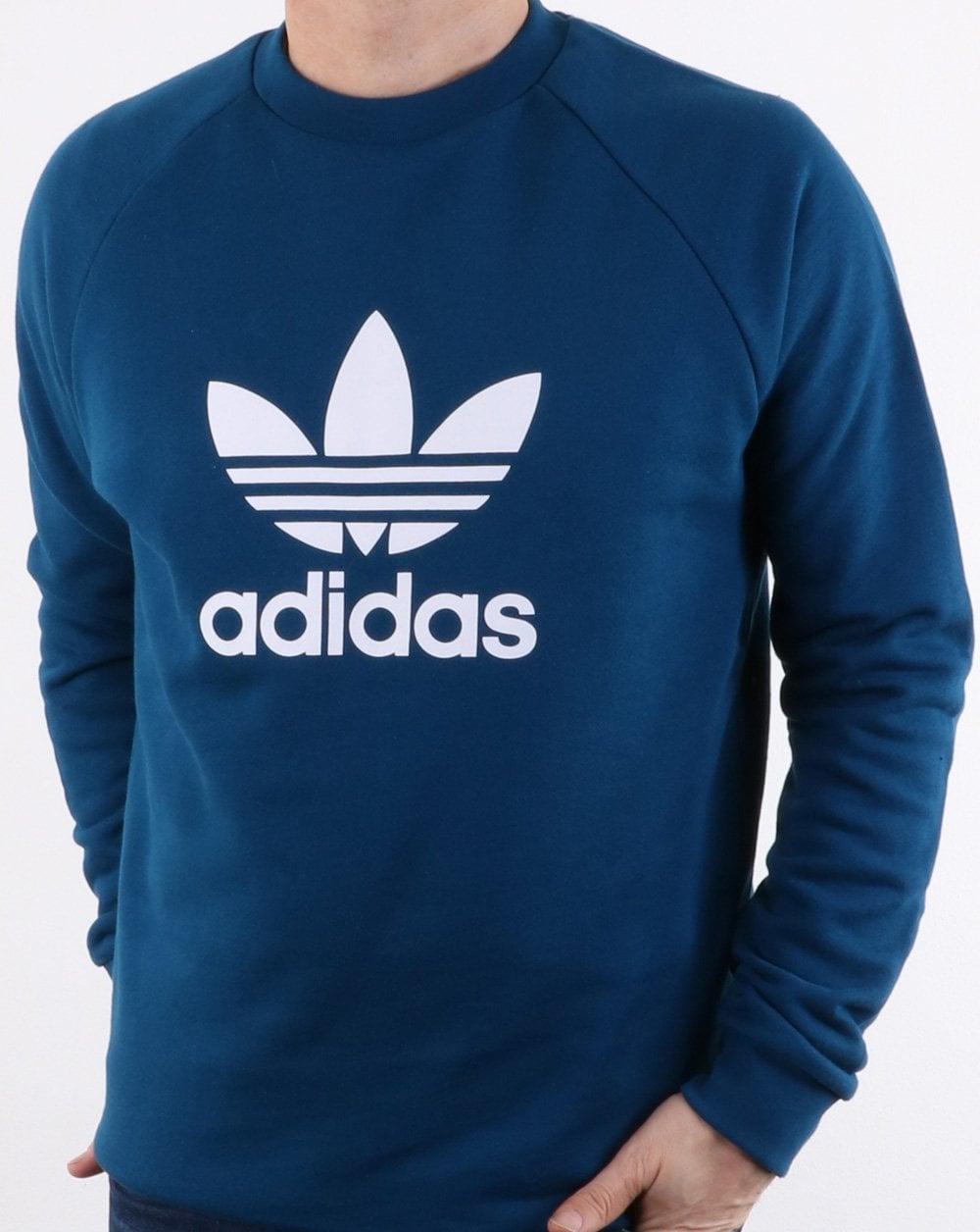 adidas Originals Adidas Originals Trefoil Crew Sweat Legend Marine d43ab39c4f4