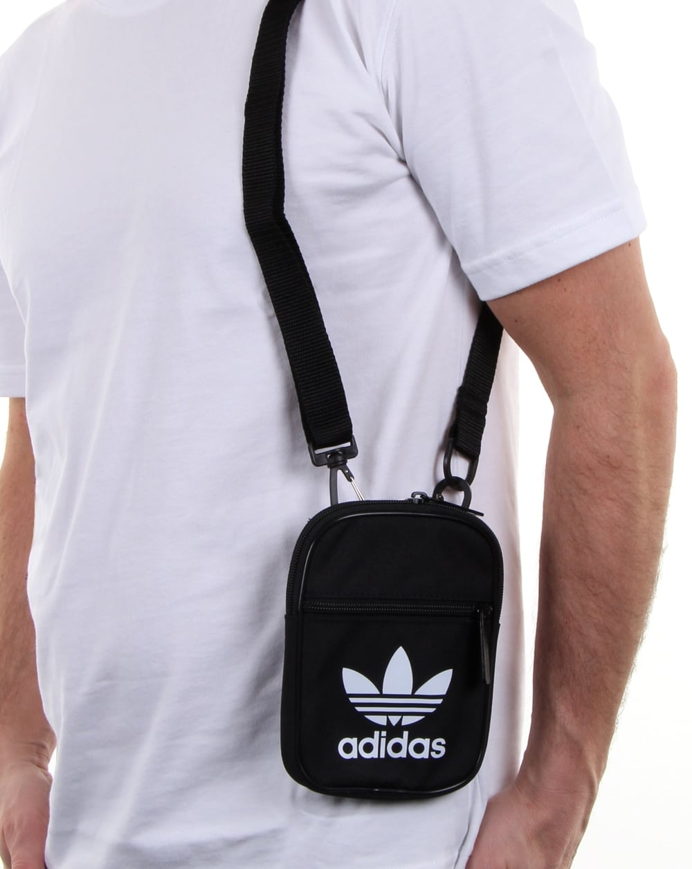 59bdda9306a Adidas Originals Trefoil Festival Bag Black, Men s, Shoulder