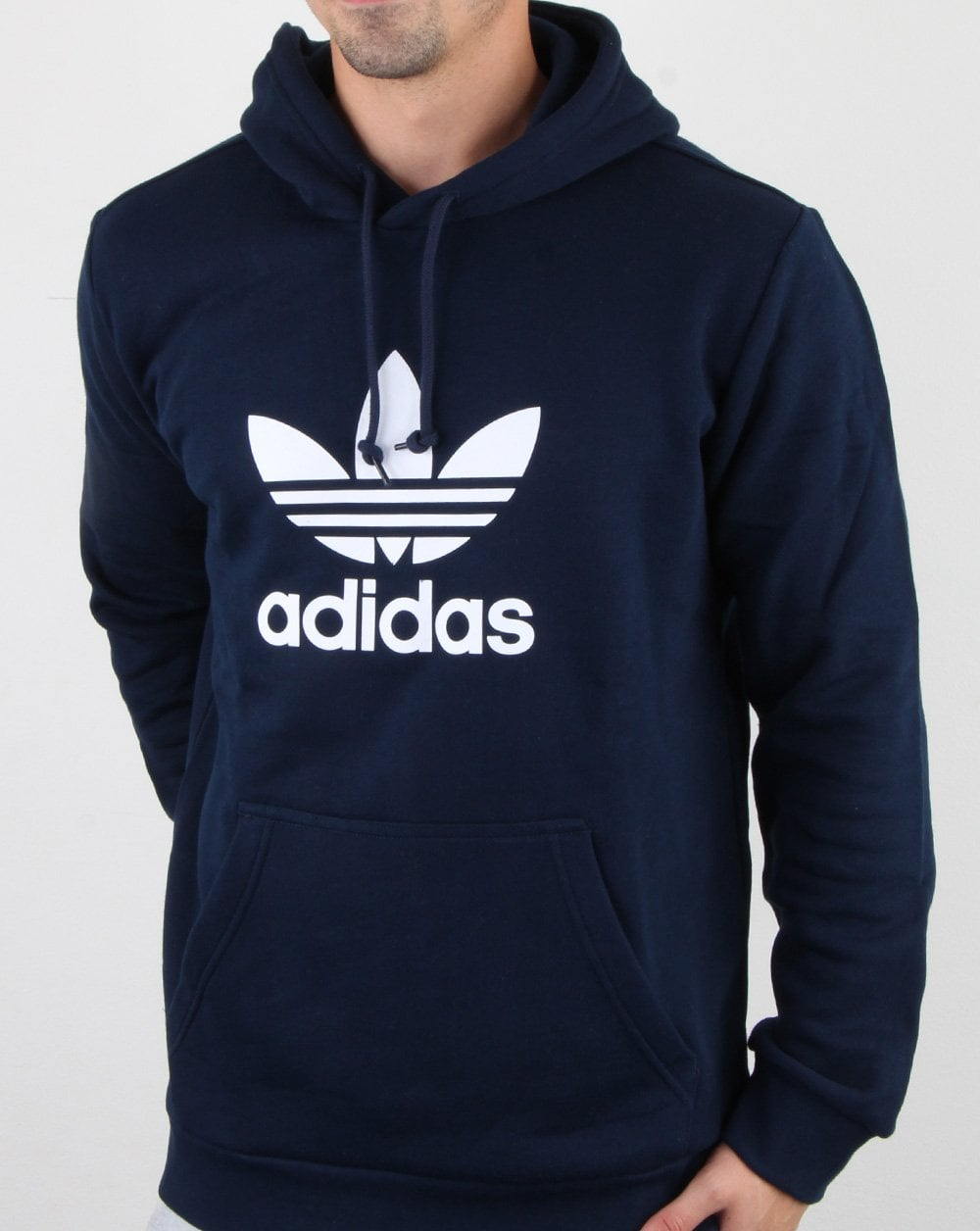 buy good fashion offer discounts Adidas Originals Trefoil Hoodie Navy - adidas At 80s Casual Classics