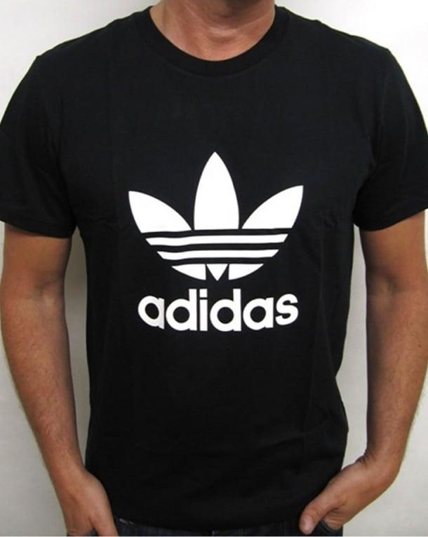 Adidas Originals Trefoil T Shirt With Large Logo Black