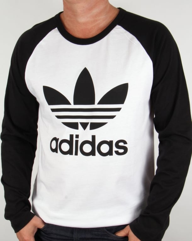 Adidas Originals Trefoil Long Sleeve Raglan T-shirt White/black
