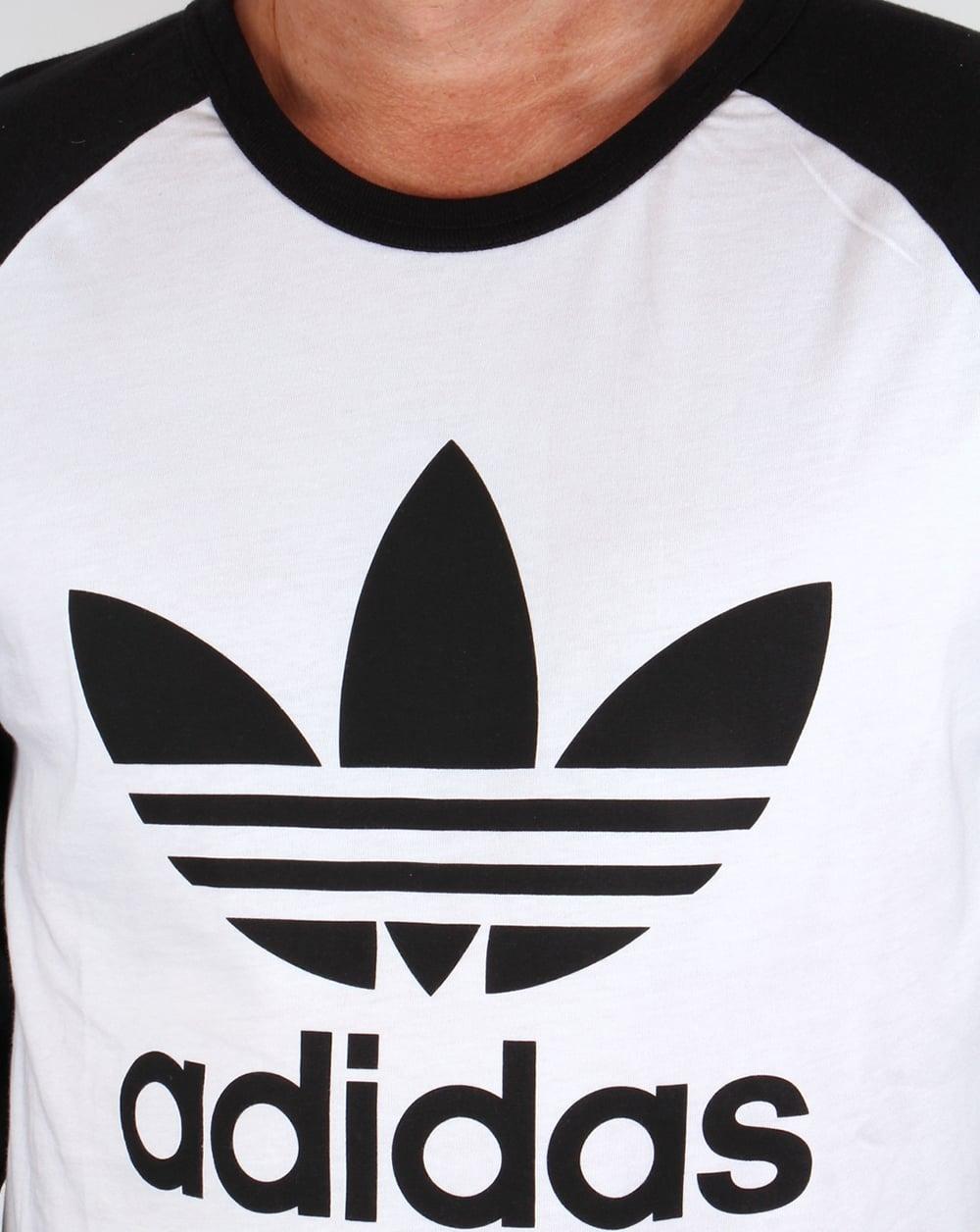 ec449df823 Adidas Originals Trefoil Long Sleeve Raglan T-shirt White/black