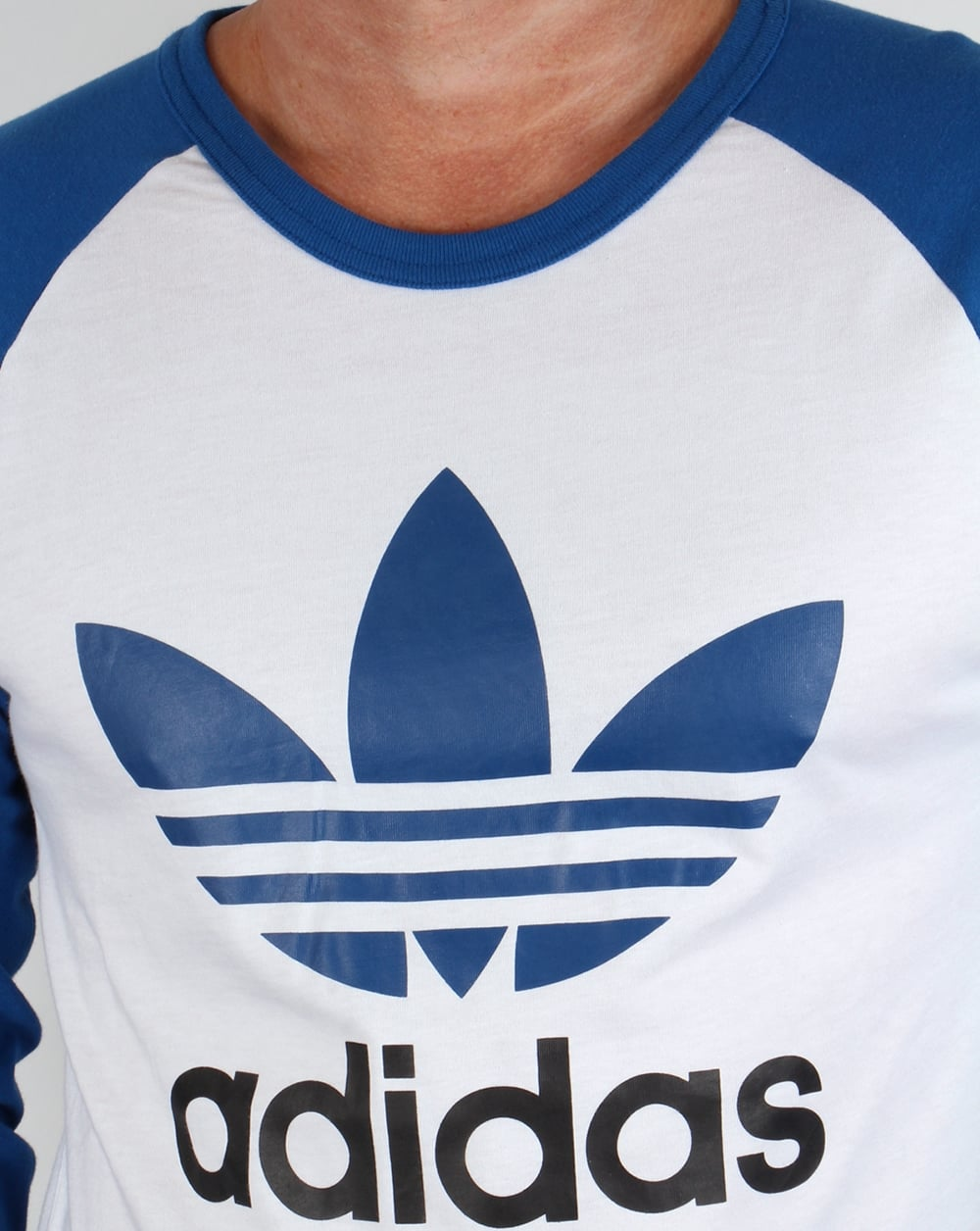 Adidas long sleeve t shirt with trefoil logo l d for Adidas long sleeve t shirt with trefoil logo