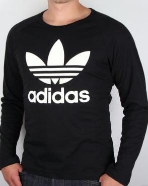 Adidas Originals Trefoil Long Sleeve T-shirt Black