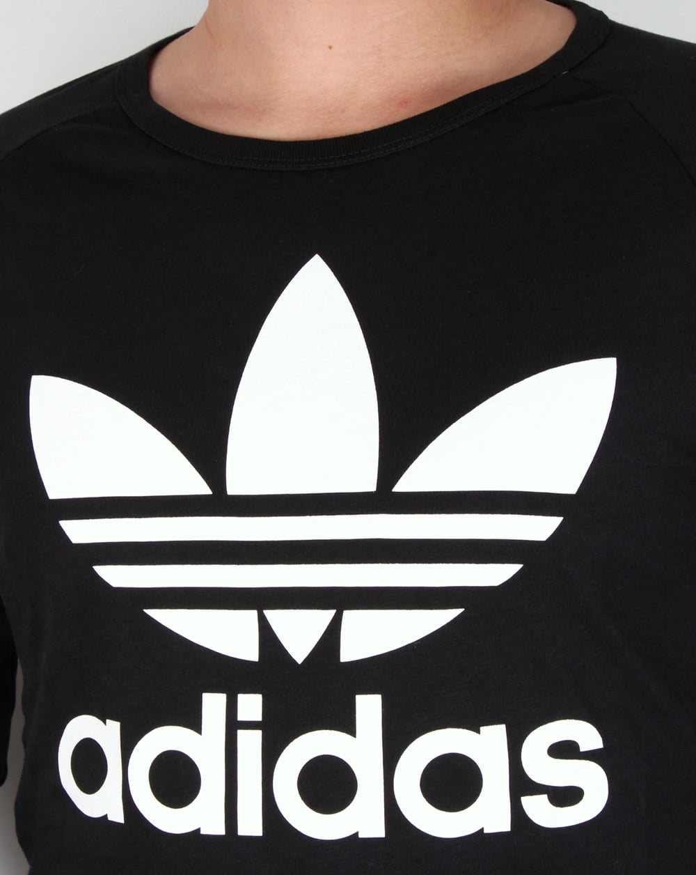 Adidas originals trefoil long sleeve t shirt black tee mens for Adidas long sleeve t shirt with trefoil logo