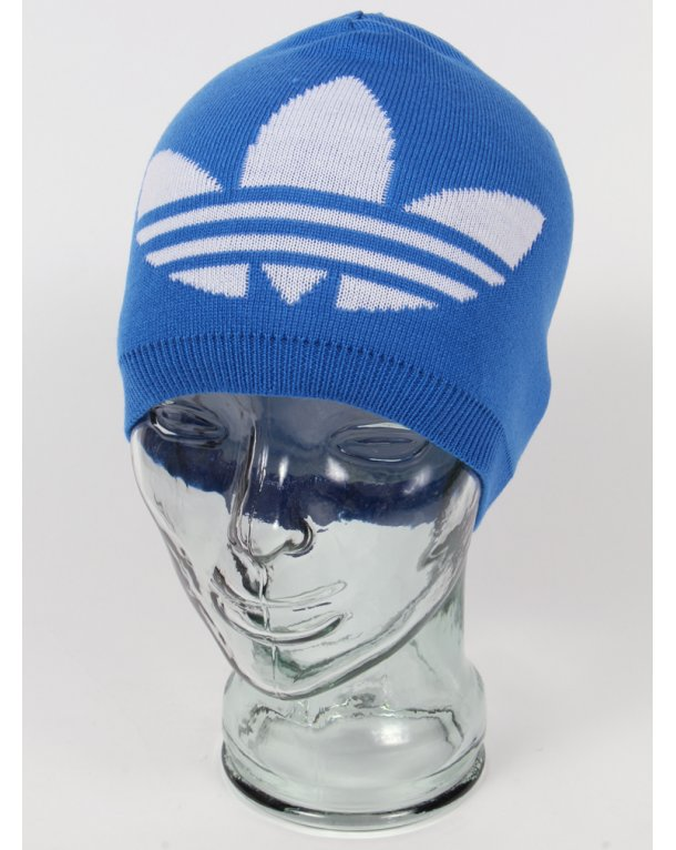 Adidas Originals Trefoil Reversible Beanie Bluebird Blue/white