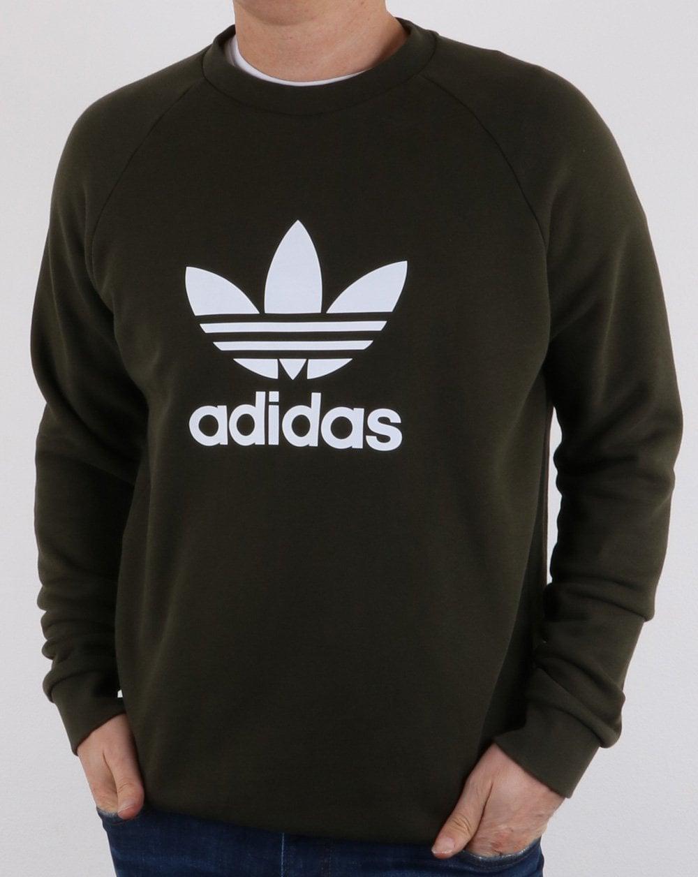 Adidas Originals Trefoil Sweatshirt khaki