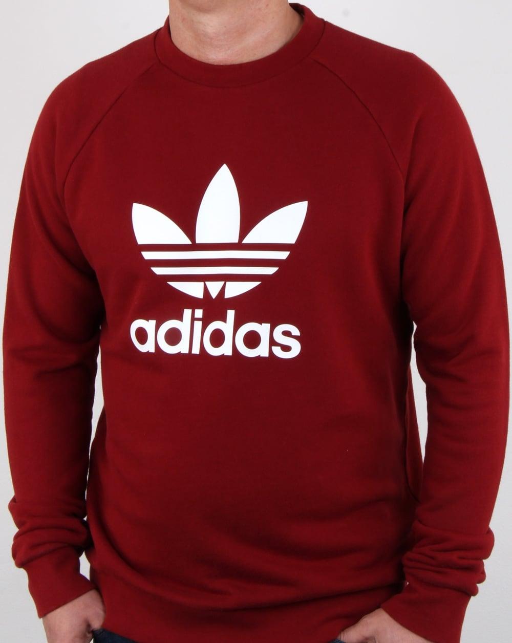 adidas Originals Adidas Originals Trefoil Sweatshirt Rust Red 14641fdcd75b
