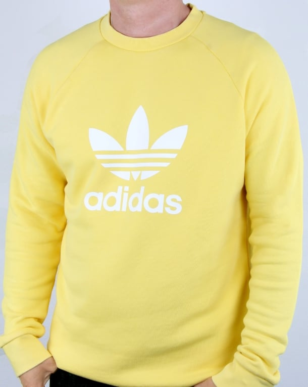 Adidas Originals Trefoil Sweatshirt Soft Lemon
