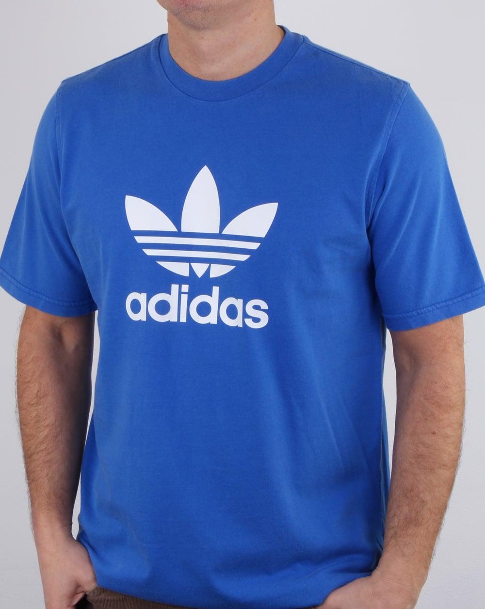 Adidas Originals Trefoil T Shirt Blue