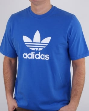 Adidas Originals Trefoil T Shirt Blue