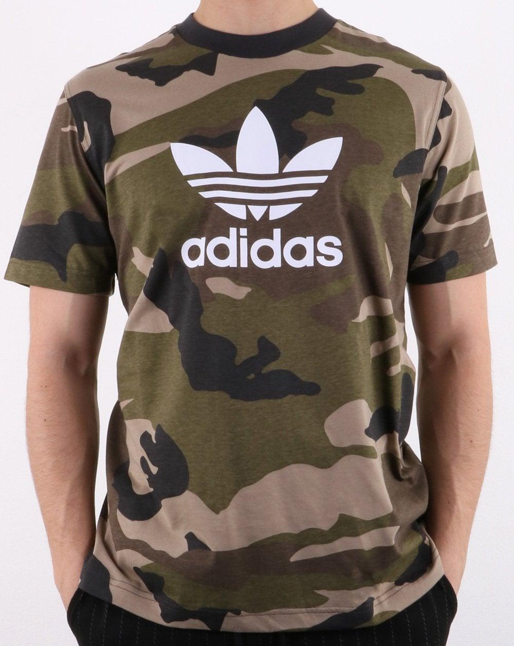 ec23949513b6f7 adidas Originals Adidas Originals Trefoil T Shirt Camo