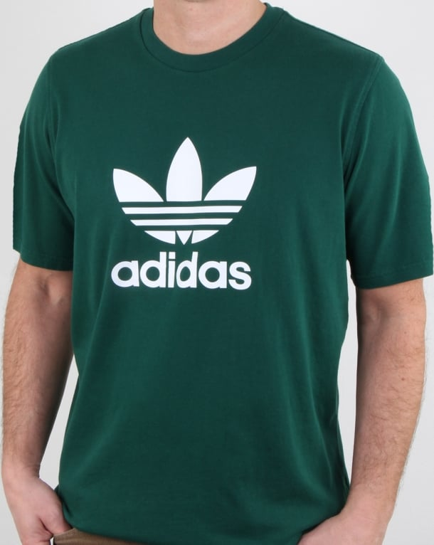 Adidas Originals Trefoil T Shirt Green