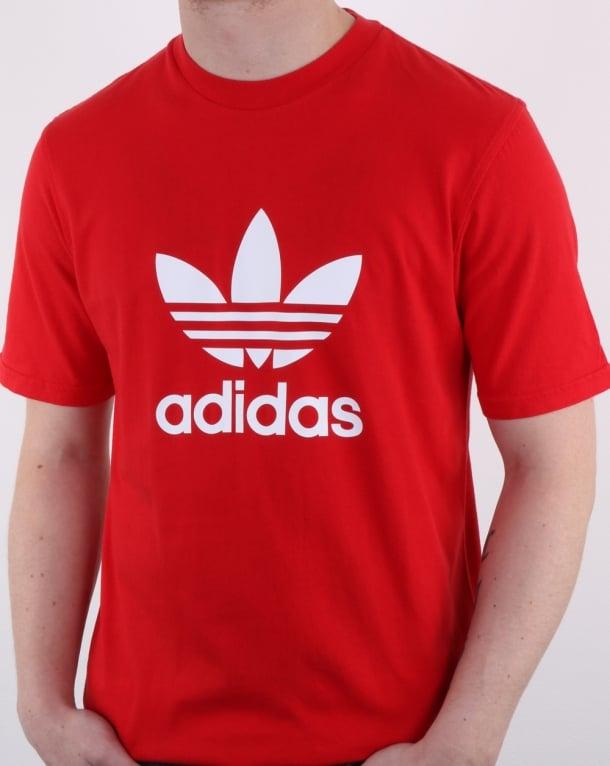Adidas Originals Trefoil T Shirt Scarlet Red