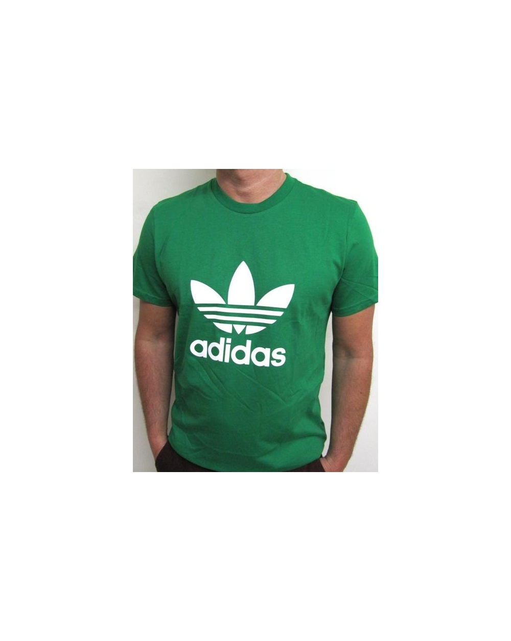 Adidas Originals Trefoil T-shirt With Large Logo Green - 0 2ea8a64f5