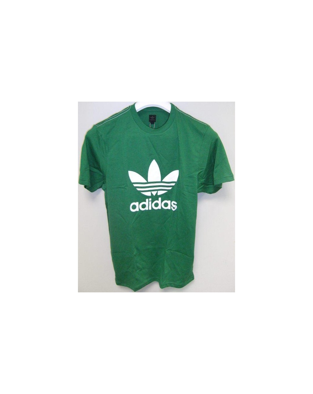 Adidas originals trefoil t shirt with large logo green 0 for Adidas lotus t shirt
