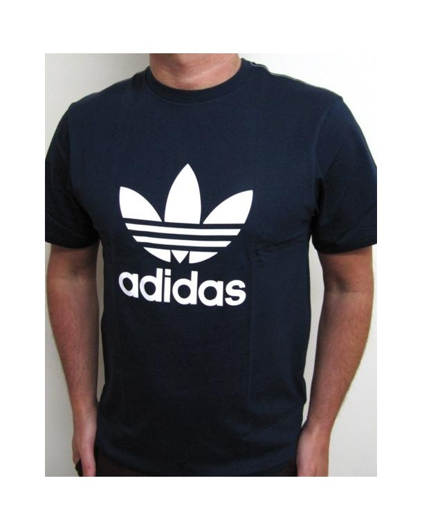 Adidas Originals Trefoil T-shirt With Large Logo Navy