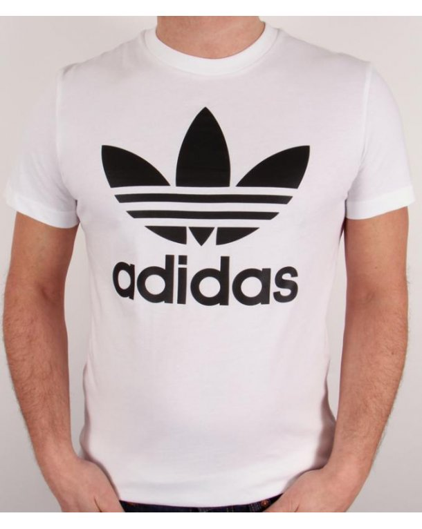 Adidas Originals Trefoil T shirt With Large Logo White