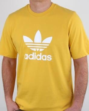 Adidas Originals Trefoil T Shirt Yellow