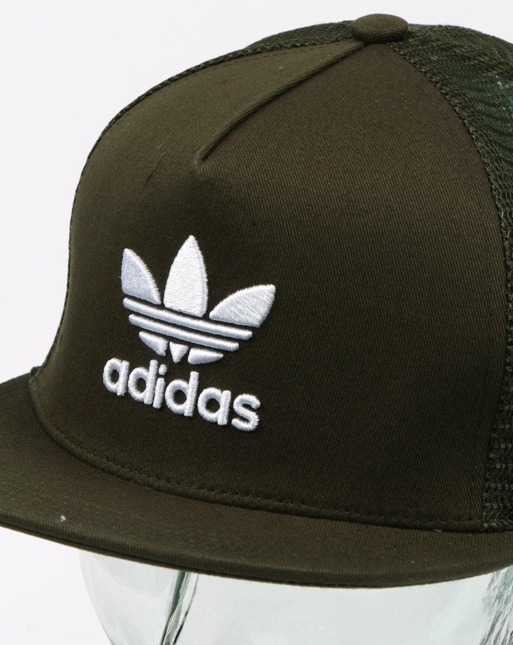 9f6f9bea Adidas Originals Trefoil Trucker Cap Night Cargo, Mens, Hat,Adjustable