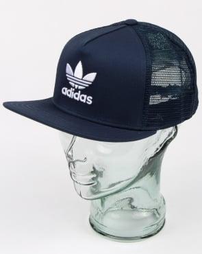 Adidas Originals Trefoil Trucker Cap Rich Blue