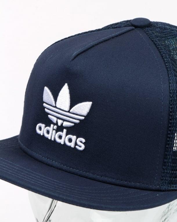 1d399a85dd2 Adidas Originals Trefoil Trucker Cap Rich Blue